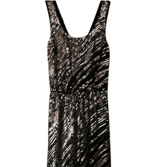 Express Dresses & Skirts - Express black and gold sequin dress size XS